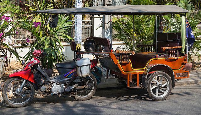 An iconic Phnom Penh Tuk Tuk